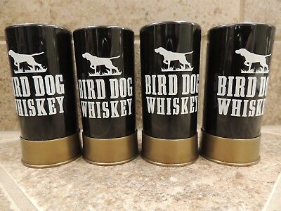 Bird Dog Whiskey Shotgun Shell Plastic Shot Glasses Lot Of 4