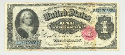 $1 Series 1891 Silver Certificate, high grade, very nice looking, almost no prob