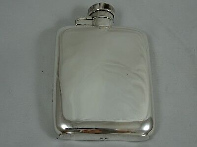 SOLID silver HIP FLASK, 1937, 103gm