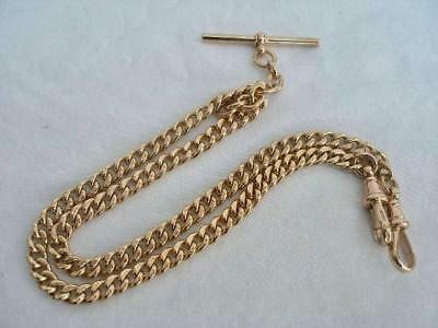 Superb Antique 9ct Solid Rose Gold Albert Watch Chain 36.1gms.