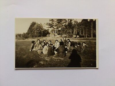 Old Postcard Photograph Girl Guides