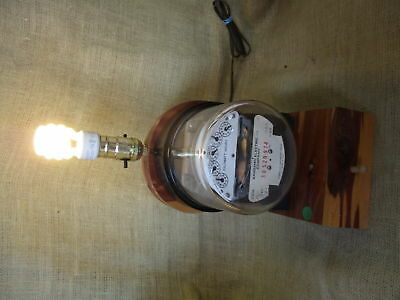 Rare / Vintage / Antique  Electric Meter Table Lamp / Steampunk Steam Punk :