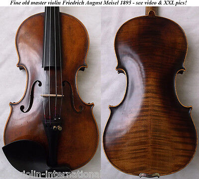 OLD GERMAN VIOLIN F. A. MEISEL 1895 - see video ANTIQUE MASTER バイオリン скрипка 757