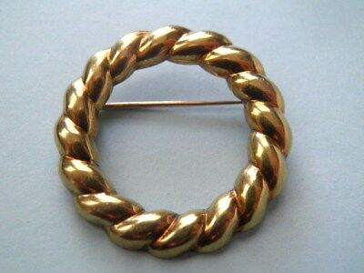 Vintage Tiffany & CO Solid 18k Yellow Gold Open Cirlce Pin-Brooch. Not Scrap!