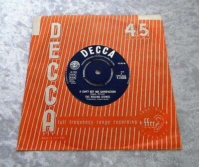 ROLLING STONES Satisfaction 45 VERY FIRST UK PRESSING 1965, ONLY 1 PLAY, MINT