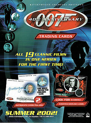 James Bond 40Th Anniversary Sell Sheet