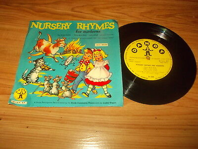 "The Dandy community players-Nursery rhymes for moderns-7"" EP 1962"