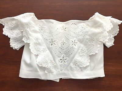 Antique/Victorian Christening Gown Bodice, Cutwork Embroidery