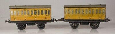 A pair of Hornby O Gauge No.1 LNER Teak 1st and 3rd Coaches