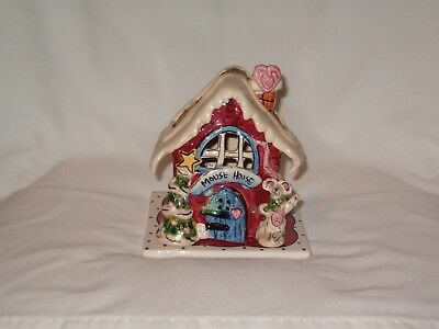 Blue Sky Mouse House Tea Light Holder / Heather Goldminc 2002