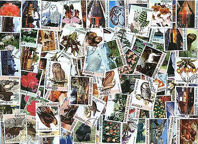Angola 162 Diff. Used Stamps on Animal Flower Owl Eagle Bird Mushroom Butterfly