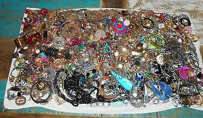 LARGE lot of costume jewelry pounds some whole/some for craft/ 13.12 lbs