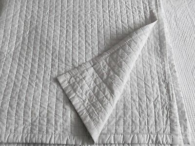 The White Company King Size  Quilted Bedspread~Throw~Silver Grey