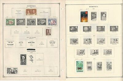 Dominica Collection 1883-1993 on Scott International Pages, 40 Pages