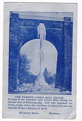 Broxburn - Linn's Mill Icicle - Canal Aqueduct - Posted 1906 -  M'larens Series