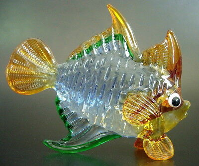 Glass tropical fish colourful painted glass aquarium fish for Painted glass fish