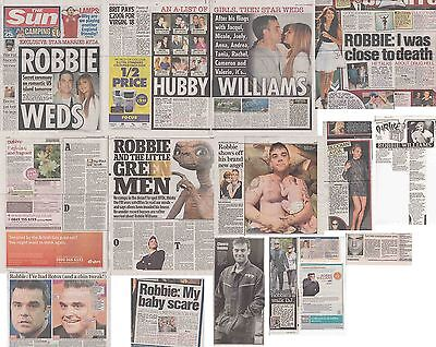ROBBIE WILLIAMS : CUTTINGS COLLECTION -newspaper articles-