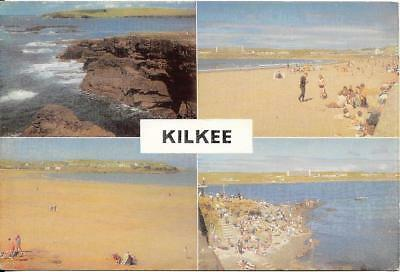 KILKEE, multi-view postcard, Wicklow, Ireland,