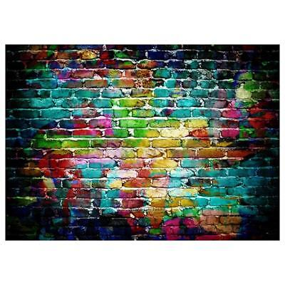 3X5FT Vinyl Graffiti Brick Wall Photography Background Backdrop Photo For Studio