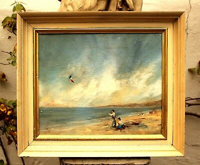 Beautiful Mid C20th French Impressionist  Oil on Canvas - Kite Flying