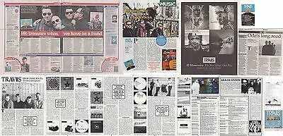 TRAVIS : CUTTINGS COLLECTION -adverts interviews-