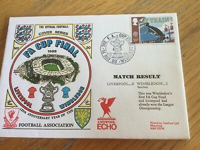 Football First Day Cover Fa Cup Final Liverpool V Wimbledon