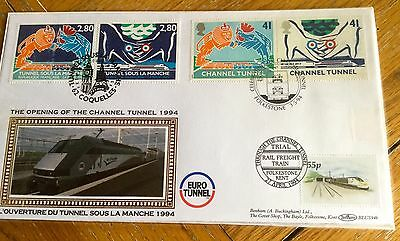 Benham Railways Trains First Day Cover Benham Channel Tunnel Special