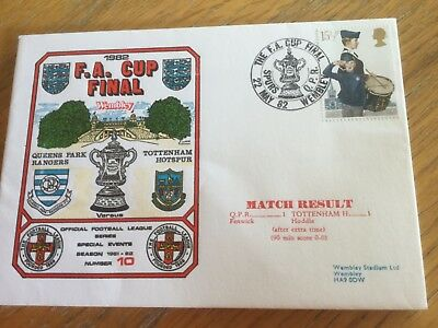 Football First Day Cover Fa Cup Final Qpr V Tottenham Hotspur