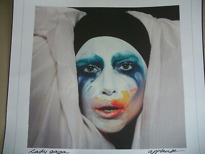 Lady Gaga Exclusive Lithograph Applause Single 2013