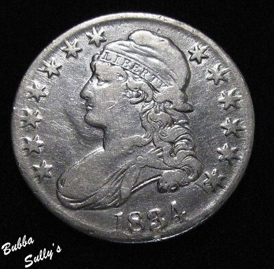 1834 Capped Bust Half Dollar <> VERY FINE
