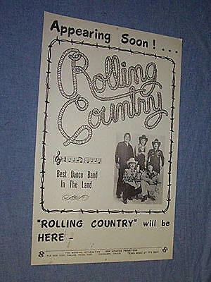 Original COLORCRAFT ROLLING COUNTRY Texas Dance Band