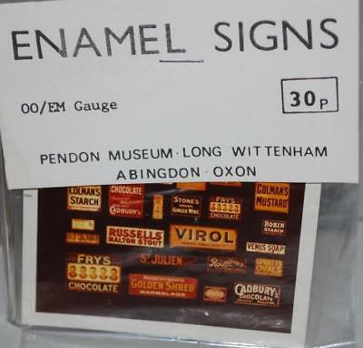 Pendon Oo Accessory - Enamel Signs - Real Photographs      X