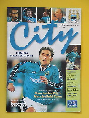 MANCHESTER CITY v MACCLESFIELD TOWN 99/00