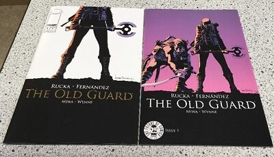 The Old Guard #1 Image Comics 25th Anniversary Gold & Blind Box Color Variant