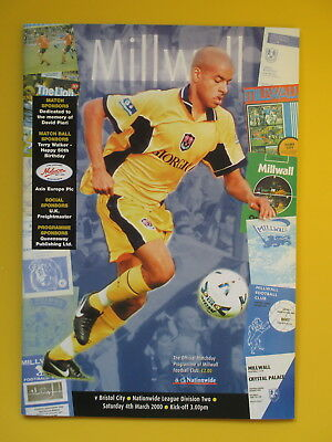 MILLWALL v BRISTOL CITY 99/00
