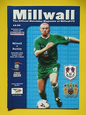 MILLWALL v BURNLEY 01/02