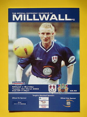 MILLWALL v BURNLEY 02/03