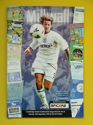 MILLWALL v CAMBRIDGE UNITED 99/00