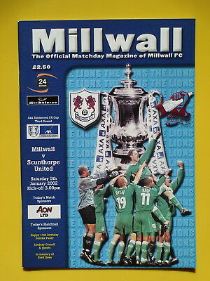 MILLWALL v CAMBRIDGE UNITED FA CUP REPLAY 02/03