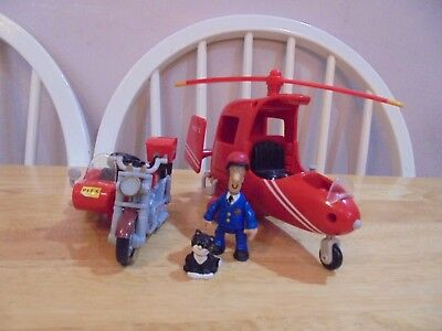 Postman Pat Helicopter & Motorbike with figures