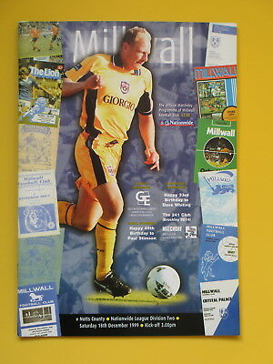 MILLWALL v NOTTS COUNTY 99/00