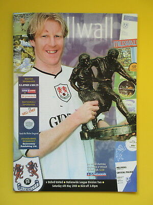 MILLWALL v OXFORD UNITED 99/00