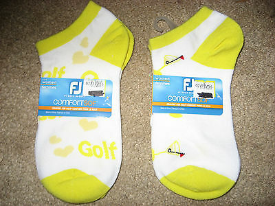 NWT 2 colorful Pairs FOOTJOY Comfort Sof Stretch Golf Socks Size 6 - 9