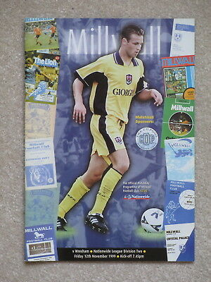 MILLWALL v WREXHAM 99/00