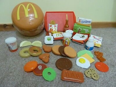 🍔 🍟  McDonalds Play Food Set In Funky Burger Storage Tub 🍟 🍔