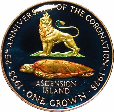 WCA Enamelled One Crown 1978 Ascension Island
