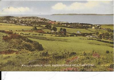 BALLYCASTLE and  Ruthlin Island, Antrim old postcard,
