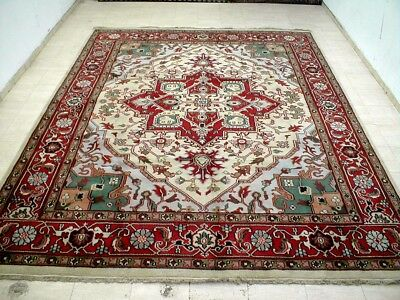 9X12 Brand New Breathtaking Hand Knotted Wool Persian Serapi Design Oriental Rug