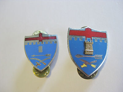 (2) 11th Infantry Regiment DUI DI Unit Crest Pin Back WWII N.S. Meyer