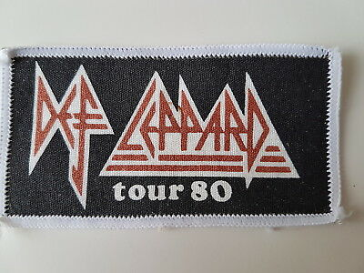 Def Leppard Vintage 1980 Tour Printed Patch Heavy Metal Nwobhm Rock